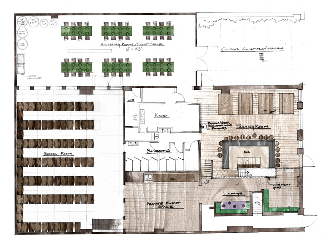 Studio js2 for Winery floor plans by architects